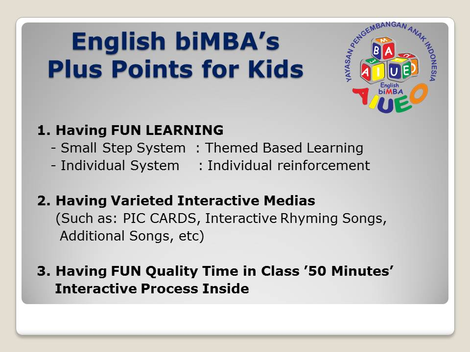 3. plus point for kids