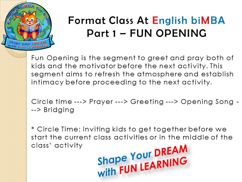 7. Fun OPENING