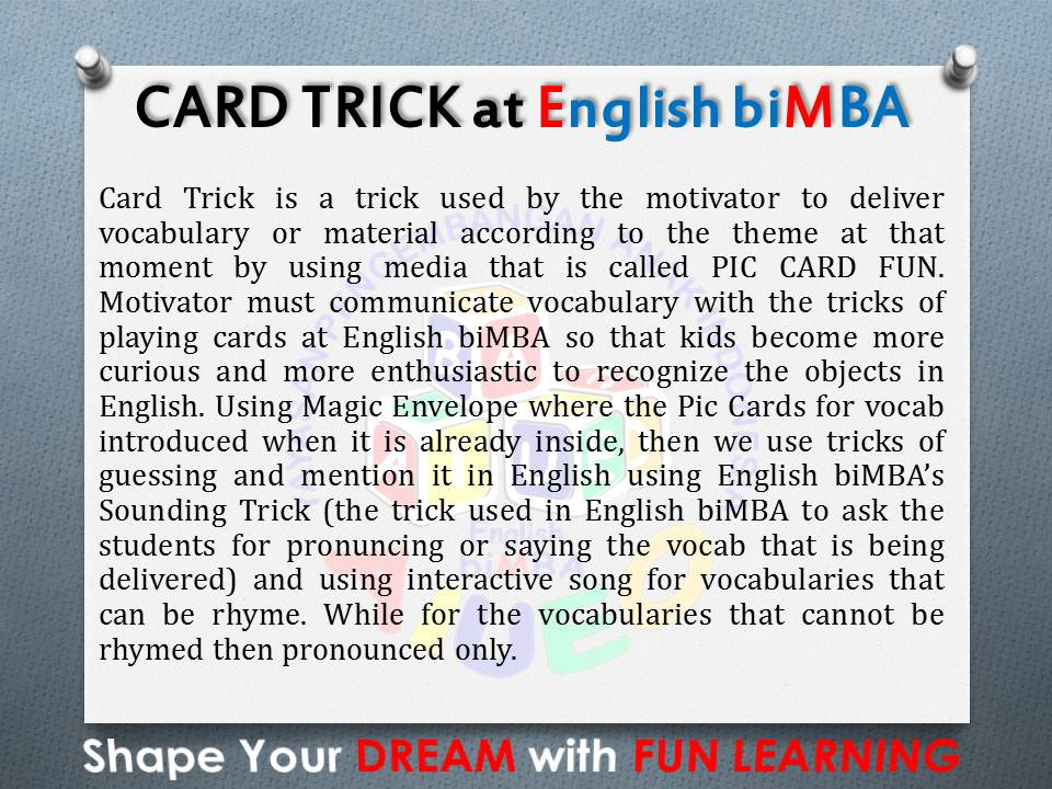 11. Cards trick