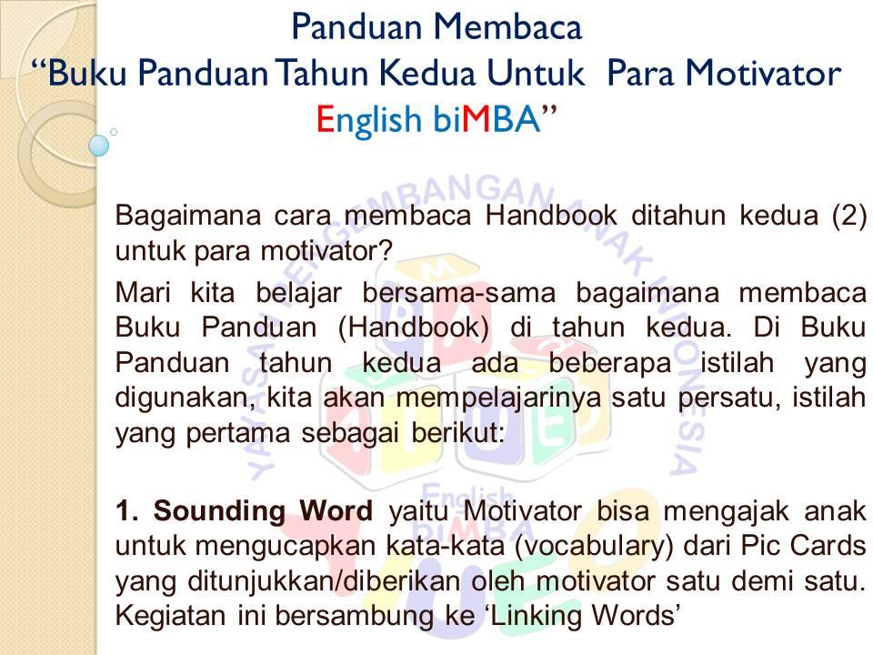 1. sounding word