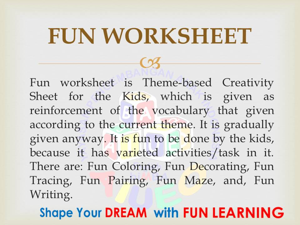 14. Fun Worksheet