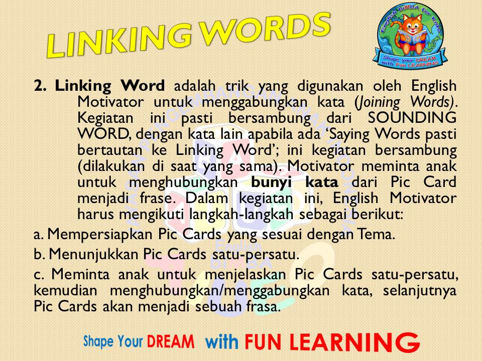2. Linking Words