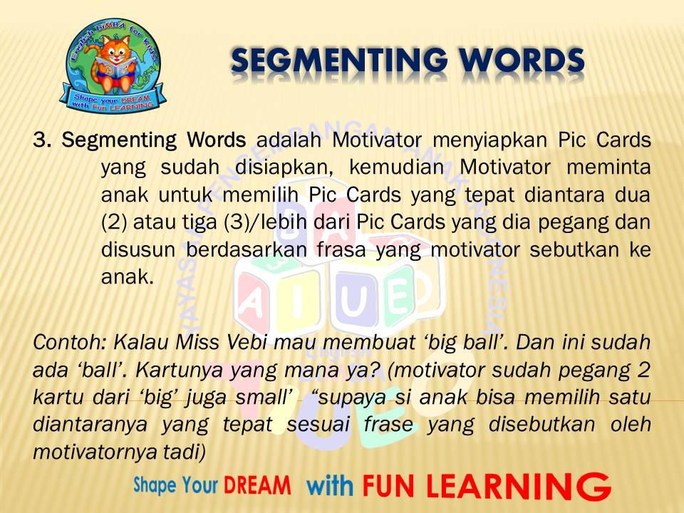 3. segmenting words