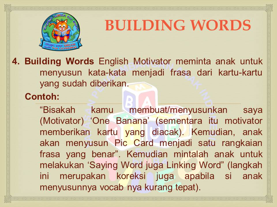 4. BUILDING WORDS