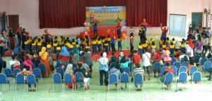 "Suasana acara ""Pentas Baca"" Unit Depok Timur di Balai Pertemuan Samina"