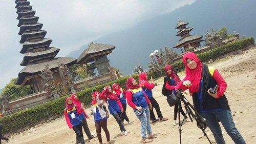 Shooting bersama biMBA Karawaci di Pura Ulun Danu, Danau Bratan Bedugul