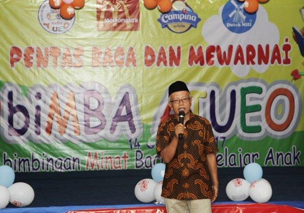 Bapak Talim Susanto. mitra biMBA Taruna Jaya menyampaikan bahwa pentas baca merupakan bagian dari pembelajaran
