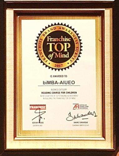 biMBA-AIUEO meraih Franchise TOP of Mind 2017