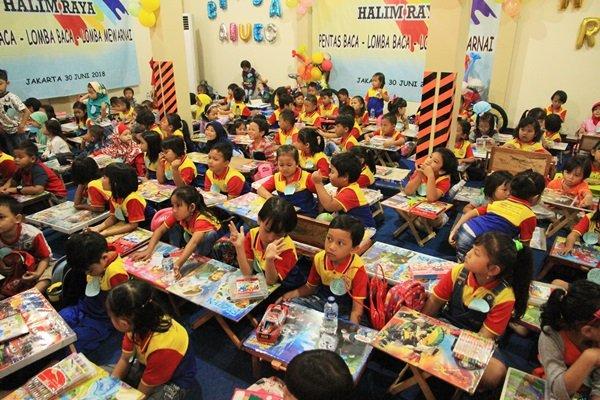Antusiasme murid biMBA Halim Raya mengikuti acara Gebyar biMBA