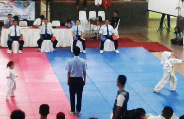 Salwa mengikuti kejuaraan taekwondo