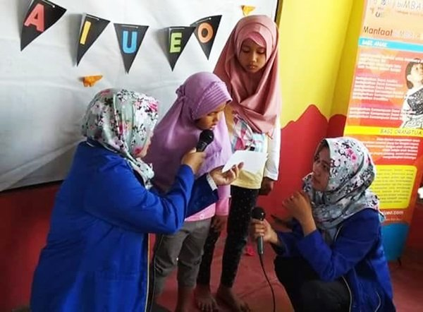 Partisipasi anak-anak TK dan PAUD di pentas baca