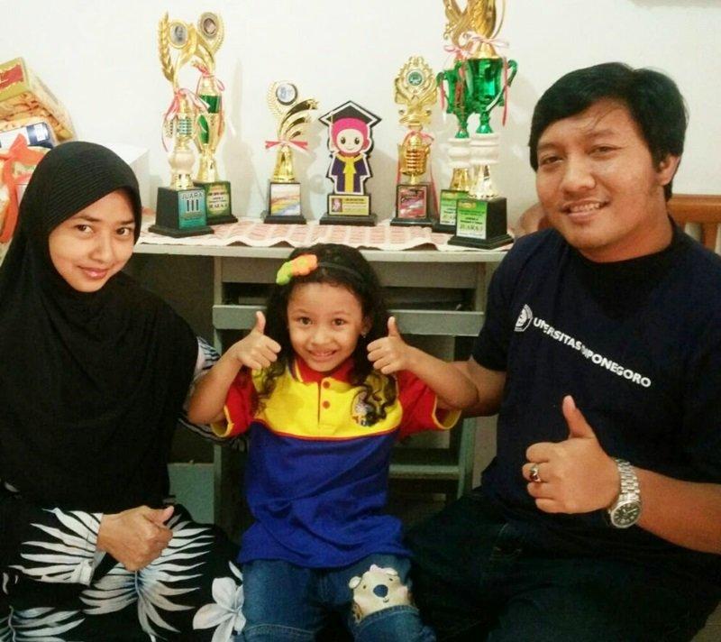 Zea dengan orangtuanya