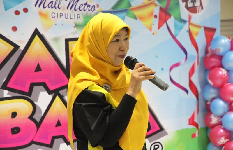 Sambutan Ermi Zaini, perwakilan biMBA-AIUEO Pusat