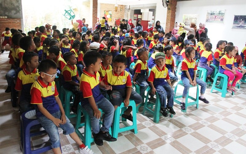 Antusiasme murid biMBA Jatinegara Lio mengikuti kegiatan