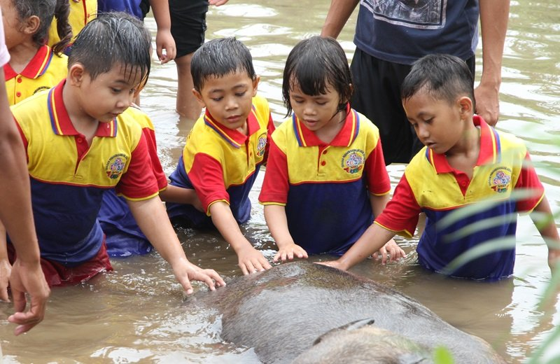 7 Kegiatan Seru Murid biMBA di Kampoeng Wisata Cinangneng