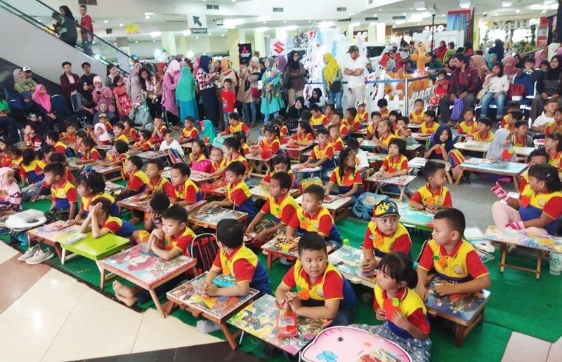 Antusiasme murid biMBA Jatimulya Regency mengikuti kegiatan