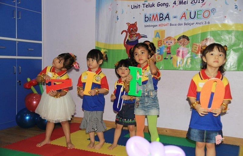 Lucu banget penampilan murid biMBA menari AIUEO.