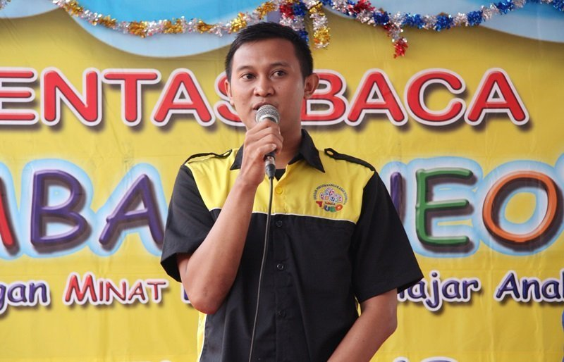 Sambutan perwakilan biMBA Pusat, Arif Junaidi.