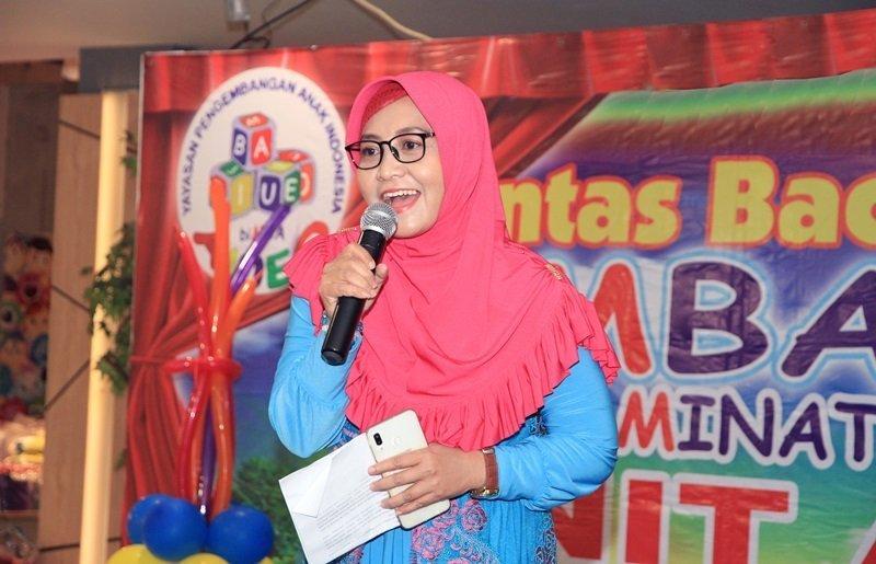 Sambutan mitra biMBA Al-Hawi oleh Ibu Yulia Rachmah.