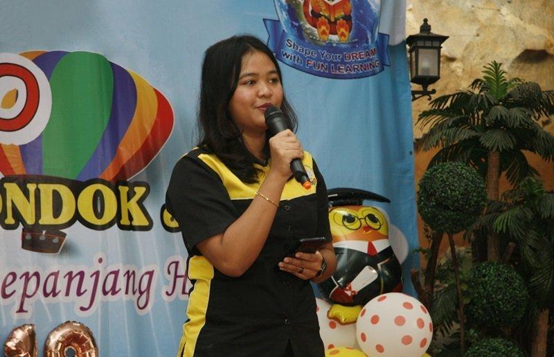 Sambutan oleh Ainnun Putri Adilah, perwakilan kantor pusat.