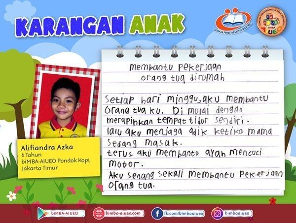 Karangan Anak Alifiandra Azka