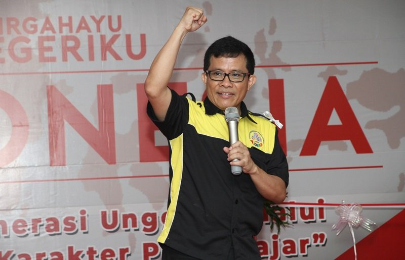 Sambutan penuh semangat oleh Ketua Yayasan Pengembangan Anak Indonesia (YPAI), Bambang Suyanto.