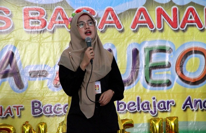Sambutan Kepala Unit biMBA Ternate II, Bilkis Arini Jannah.