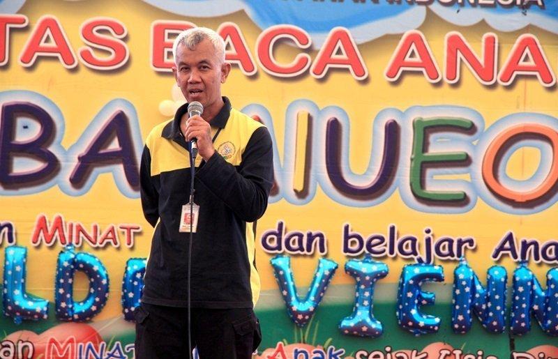 Kepala Divisi Humas, Wiwi Yunianto menyampaikan manfaat biMBA kepada orang tua.