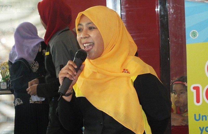 Sambutan kepala unit biMBA Pondok Jaya, Yeni Lestari.