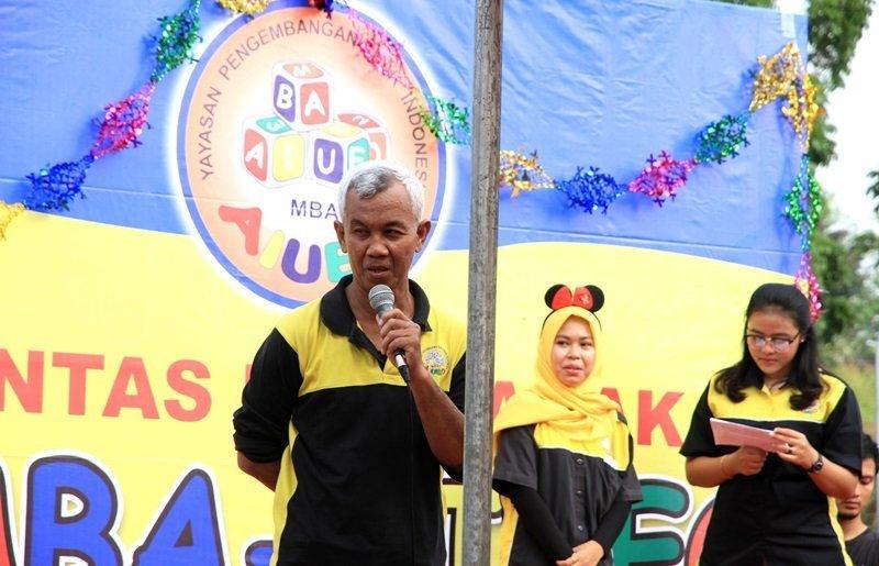 Sambutan perwakilan biMBA Pusat, Wiwi Yunianto.