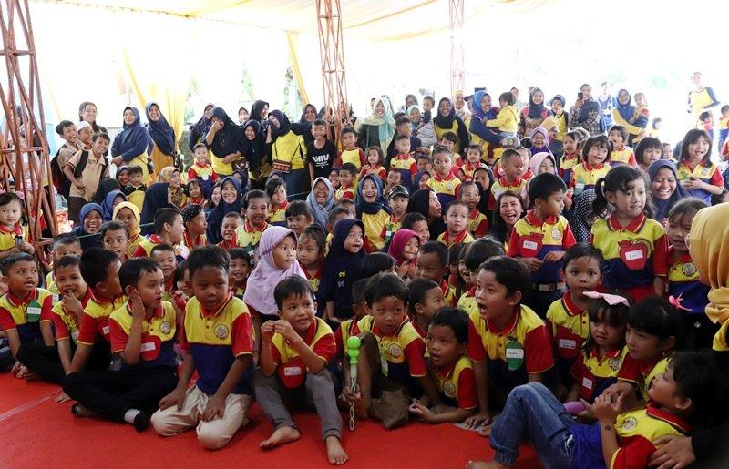 Waahh, ramai dan seru sekali ya kegiatan anak-anak biMBA ini.