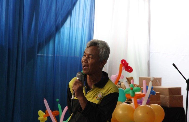 Wiwi Yunianto memberikan sambutan dan sosialisasi metode biMBA kepada orang tua.