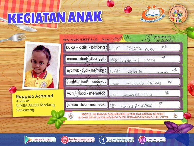 Permainan Modul Dikte Rayyisa Achmad