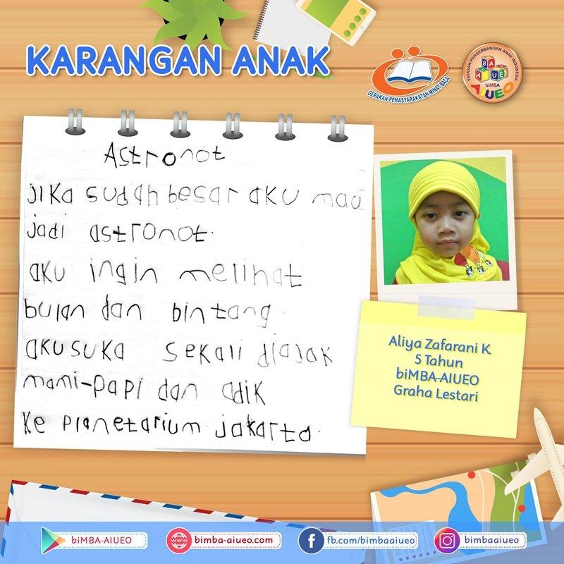 Karangan Anak Aliya Zafarani K