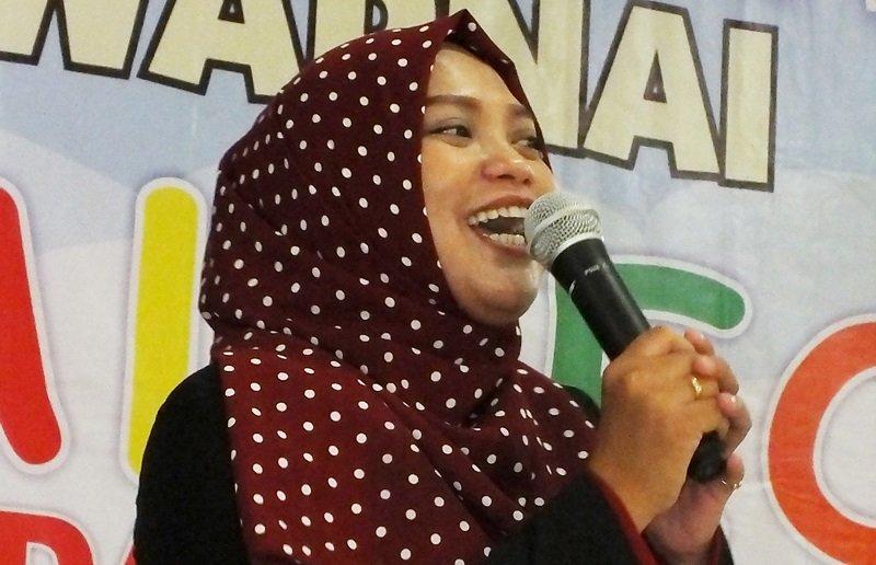 Sambutan Kepala Unit biMBA-AlUEO Jati Padang, Widya Safitri