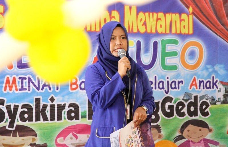 Sambutan mitra biMBA Syakira yang disampaikan Motivator biMBA, Ibu Nurlaela.