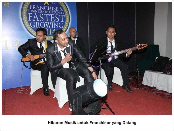 Lantunan musik Menghibur Franchisor yang Datang